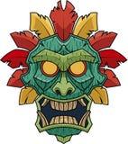 Modello di Tiki secondo della maschera Immagine Stock
