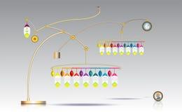 modello di timline di 3D Infographic che appende con il punto di numero 14 Immagini Stock Libere da Diritti