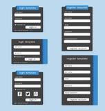Modello di UI Elementi di Web UX Immagine Stock
