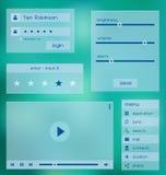 Modello di UI Elementi di Web UX illustrazione vettoriale