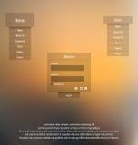 Modello di UI Elementi di Web UX royalty illustrazione gratis