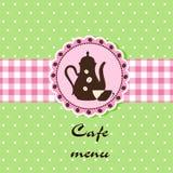 Modello di un menu del caffè Fotografia Stock Libera da Diritti