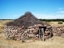 Modello di una casa della gente antica Fotografie Stock