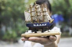 Modello di una nave di navigazione Fotografie Stock