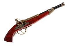 Modello di vecchia pistola sui precedenti bianchi Fotografie Stock