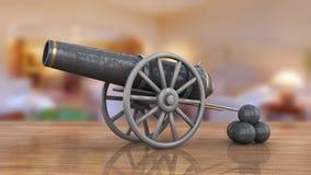 Modello di vecchio cannone Fotografia Stock