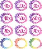 Modello di vendita con le percentuali Fotografia Stock Libera da Diritti