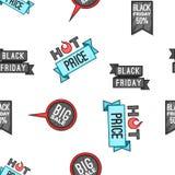 Modello di vendita di Black Friday, stile del fumetto Immagini Stock Libere da Diritti