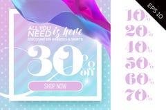 Modello di vendita di vettore con la seta di volo sulla Polka Dot Pastel Royalty Illustrazione gratis