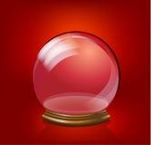 Modello di vetro della palla di neve Fotografie Stock Libere da Diritti