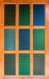 Modello di vetro di colore Immagini Stock
