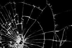 Modello di vetro di struttura rotto crepa reale fotografia stock libera da diritti
