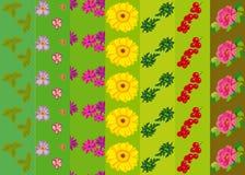 Modello di vettore con i fiori e le piante Decorazione floreale Senza cuciture floreale originale Immagine Stock Libera da Diritti