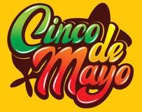 Modello di vettore con iscrizione calligrafica per la celebrazione Cinco de Mayo