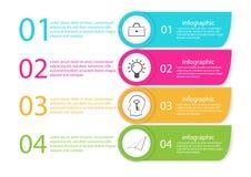 Modello di vettore di cronologia di infographics di affari fotografia stock libera da diritti