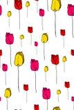 Modello di vettore dei tulipani royalty illustrazione gratis
