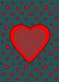 Modello di vettore del cuore Fotografia Stock Libera da Diritti