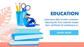 Modello di vettore del homepage dell'istituto scolastico royalty illustrazione gratis
