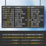 Modello di vettore del tabellone segnapunti di informazioni di arrivi di vibrazione dell'aeroporto royalty illustrazione gratis