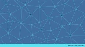 Modello di vettore del triangolo collegato estratto Fondo della rete neurale Illustrazione poligonale geometrica illustrazione vettoriale