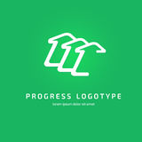 Modello di vettore della freccia di progettazione dell'estratto di logo Immagini Stock