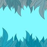 Modello di vettore delle foglie Fotografia Stock