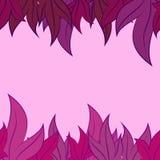 Modello di vettore delle foglie Immagini Stock