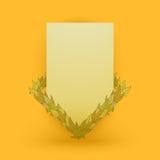 Modello di vettore delle foglie Fotografie Stock Libere da Diritti