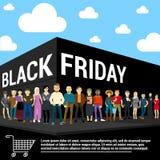 Modello di vettore di Black Friday Fotografie Stock Libere da Diritti