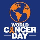 Modello di vettore di giorno del cancro del mondo Immagine Stock Libera da Diritti
