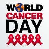 Modello di vettore di giorno del cancro del mondo Fotografie Stock