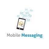 Modello di vettore di logo di affari di comunicazione su mezzi mobili di vettore Immagini Stock Libere da Diritti