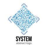 Modello di vettore di logo per azienda delle tecnologie dell'informazione o il progetto scientifico illustrazione vettoriale
