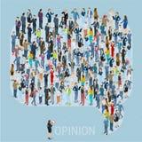 Modello di vettore di opinione pubblica illustrazione vettoriale