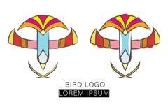 Modello di vettore di logo di progettazione dell'uccello di volo illustrazione vettoriale