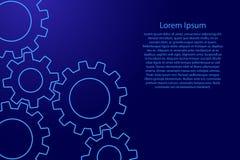 Modello di vettore per gli scorrevoli di presentazione Azzurro astratto illustrazione vettoriale