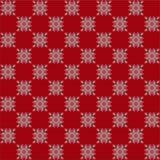 Modello di vettore stilizzato come tessuto tricottato della lana con l'immagine dei modelli scandinavi del fiocco di neve rossi e immagine stock libera da diritti