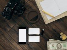 Modello di viaggio di affari del modello Fotografie Stock