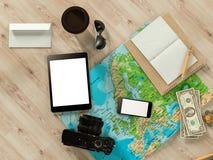 Modello di viaggio di affari del modello Immagine Stock