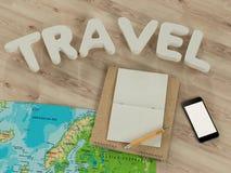 Modello di viaggio di affari del modello Immagini Stock
