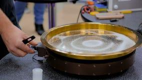 Modello di vibrazione della sabbia archivi video