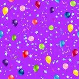 Modello di Violet Happy Birthday Fotografia Stock Libera da Diritti