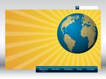 Modello di Web del sole Fotografia Stock Libera da Diritti