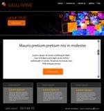 Modello di web design Fotografia Stock Libera da Diritti
