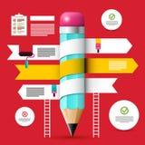 Modello di web design Disposizione di Infographic di vettore illustrazione di stock