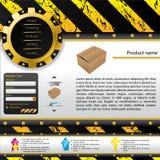 Modello di Web di disegno della costruzione Fotografia Stock Libera da Diritti