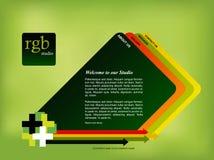 Modello di Web site Fotografie Stock