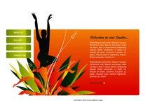 Modello di Web site Immagine Stock Libera da Diritti