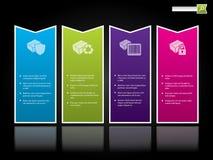 Modello di Web site con i contrassegni di colore Immagini Stock