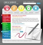 Modello di Web site del Internet di arte del Rainbow illustrazione di stock